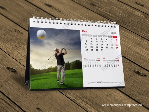 Horizontal Calendar Design : Horizontal a desk calendar design template kb