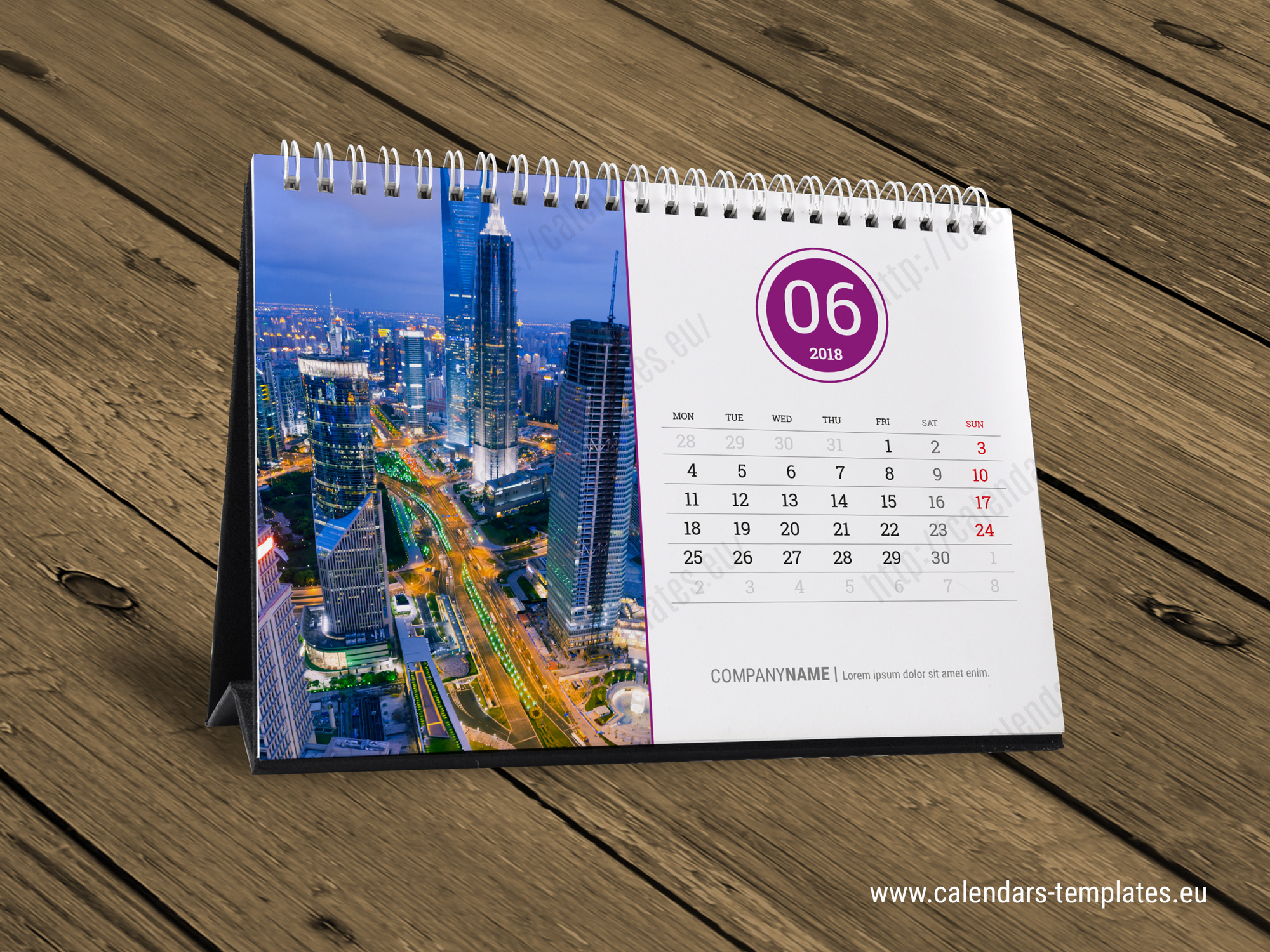 Table Calendar Design : Desk calendar kb w template