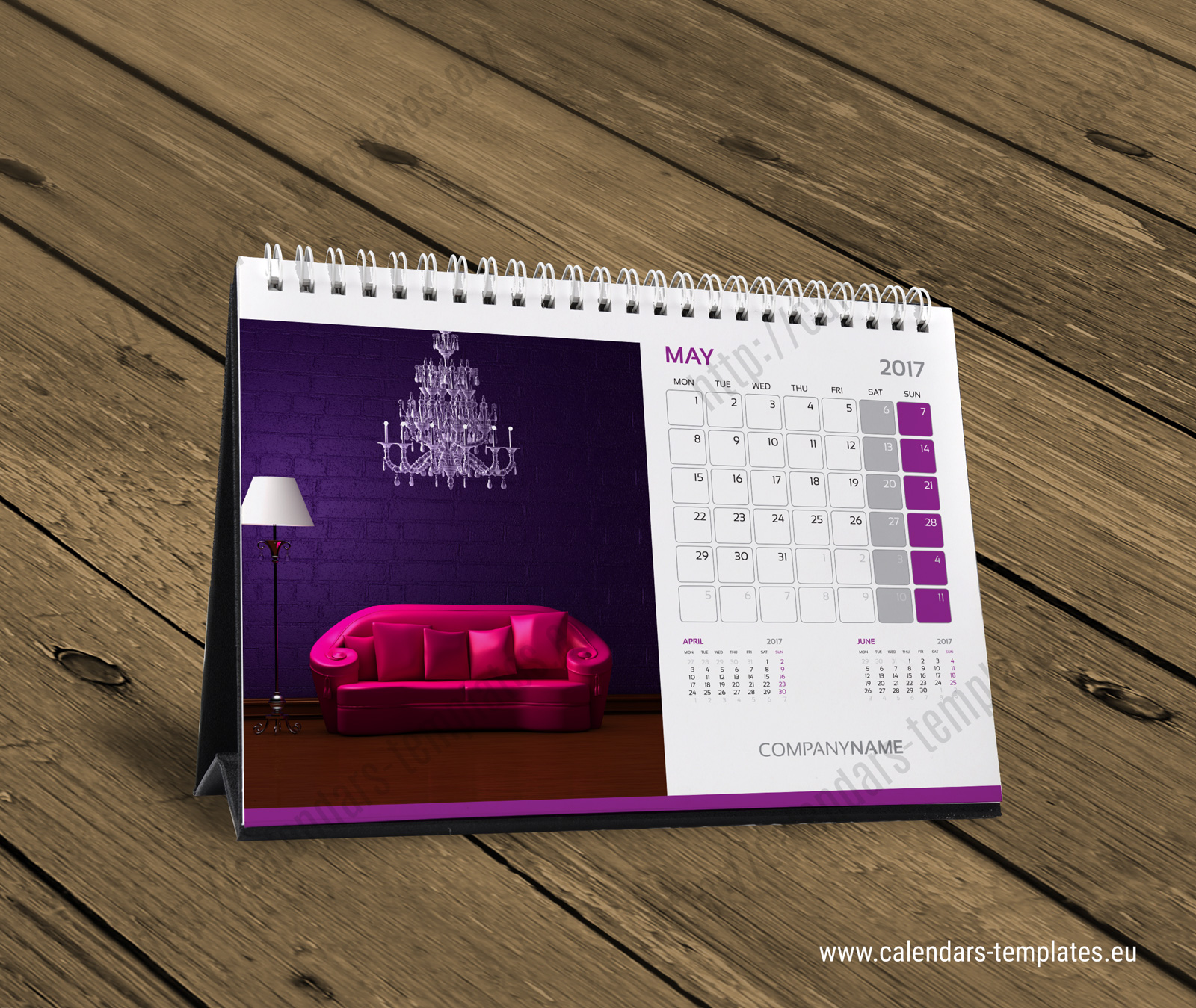 Desk calendar kb10 w5 template calendar template for Table design 2016