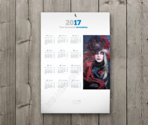 2018 year calendar with big image