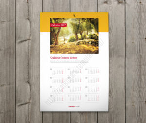 custom wall calendar template vertical yearly calendar