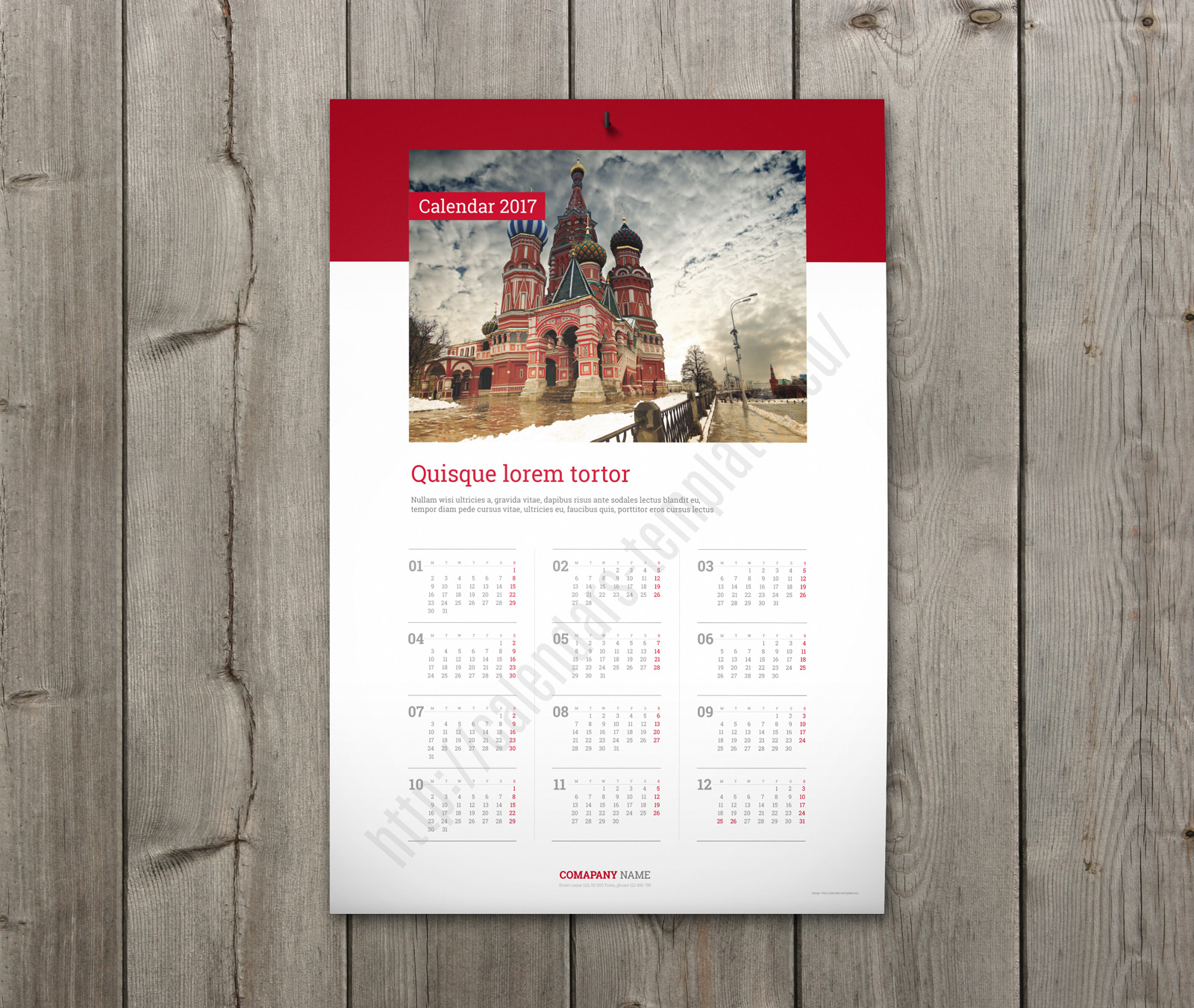 best custom wall calendar template yearly one page calendar. Black Bedroom Furniture Sets. Home Design Ideas