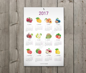 Printable wall calendar template 12 months on one big page
