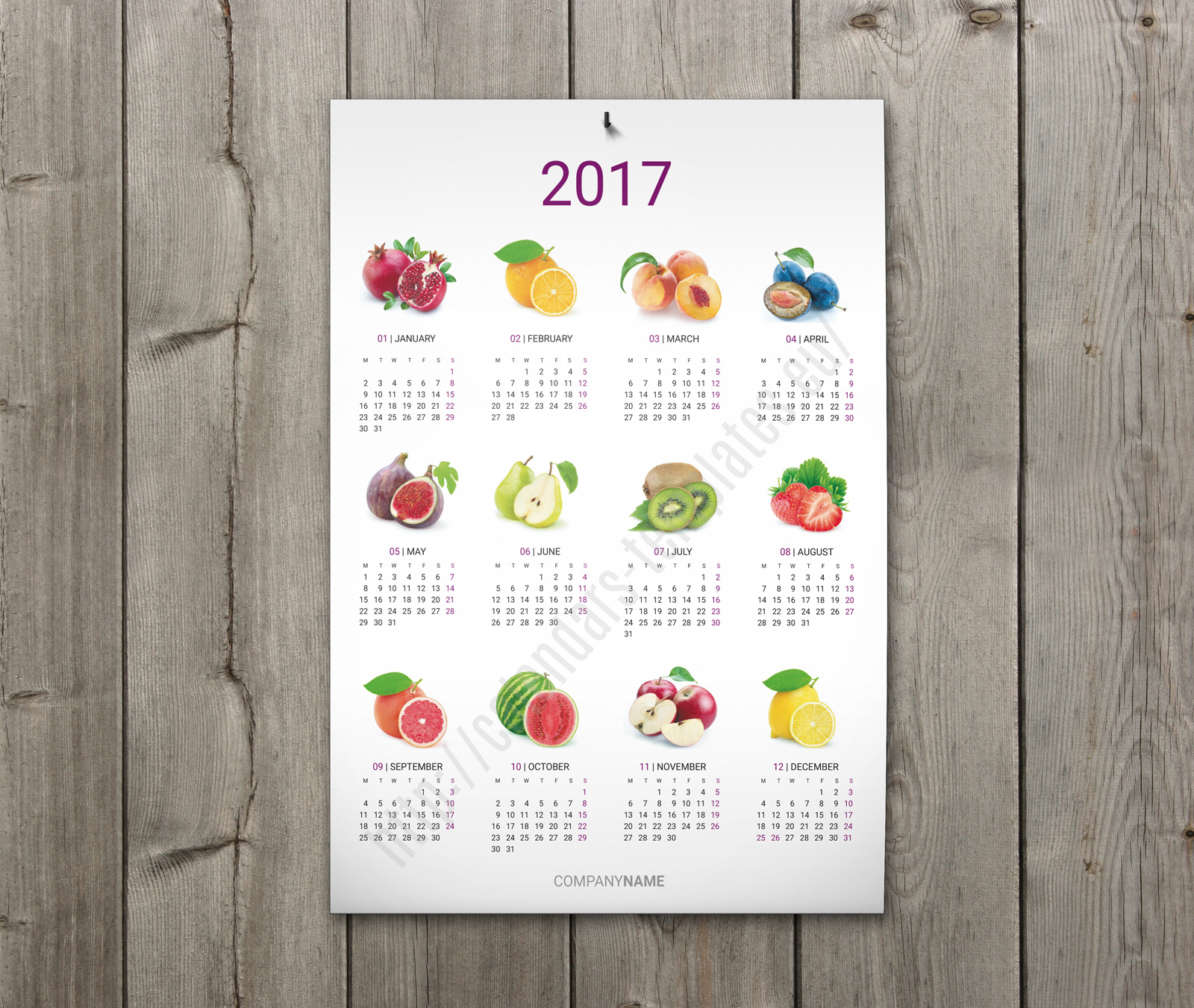 Calendar Poster Template : Printable wall calendar template yearly poster