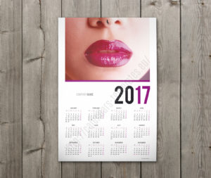 2018 calendar one page yearly poster calendar