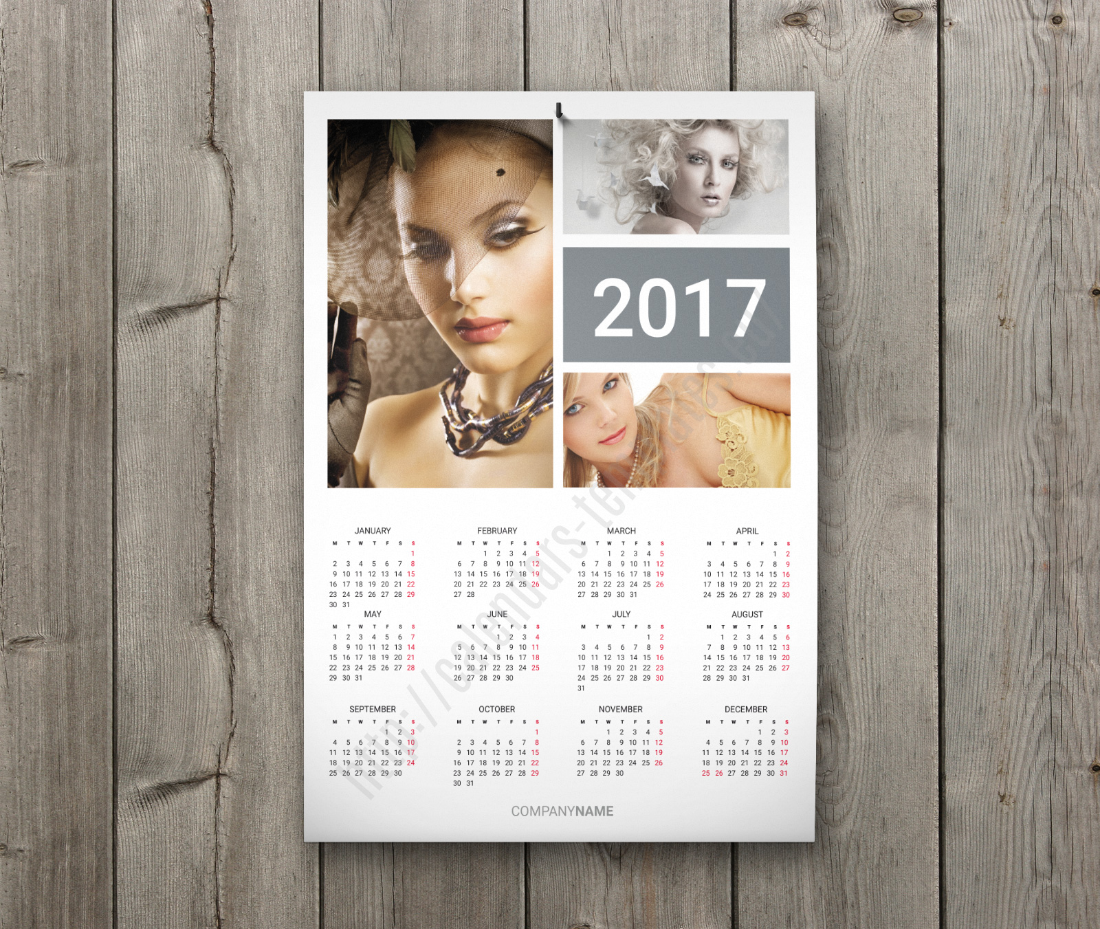 Calendar Poster Template : Digital calendar template download this poster wall
