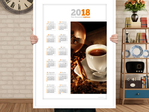 2018 year calendar with photo