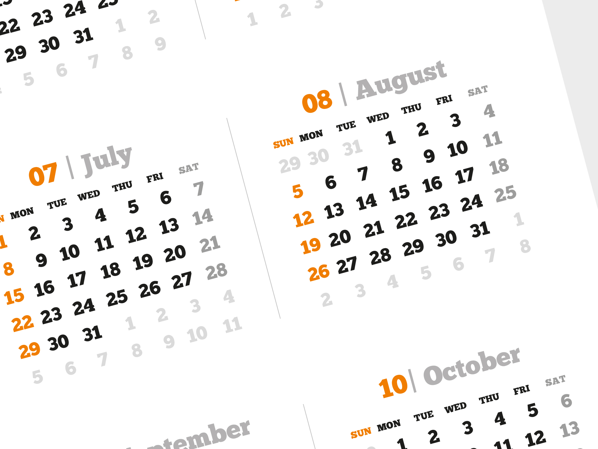 2018 Yearly Calendar Template With Large Image Pdf Format