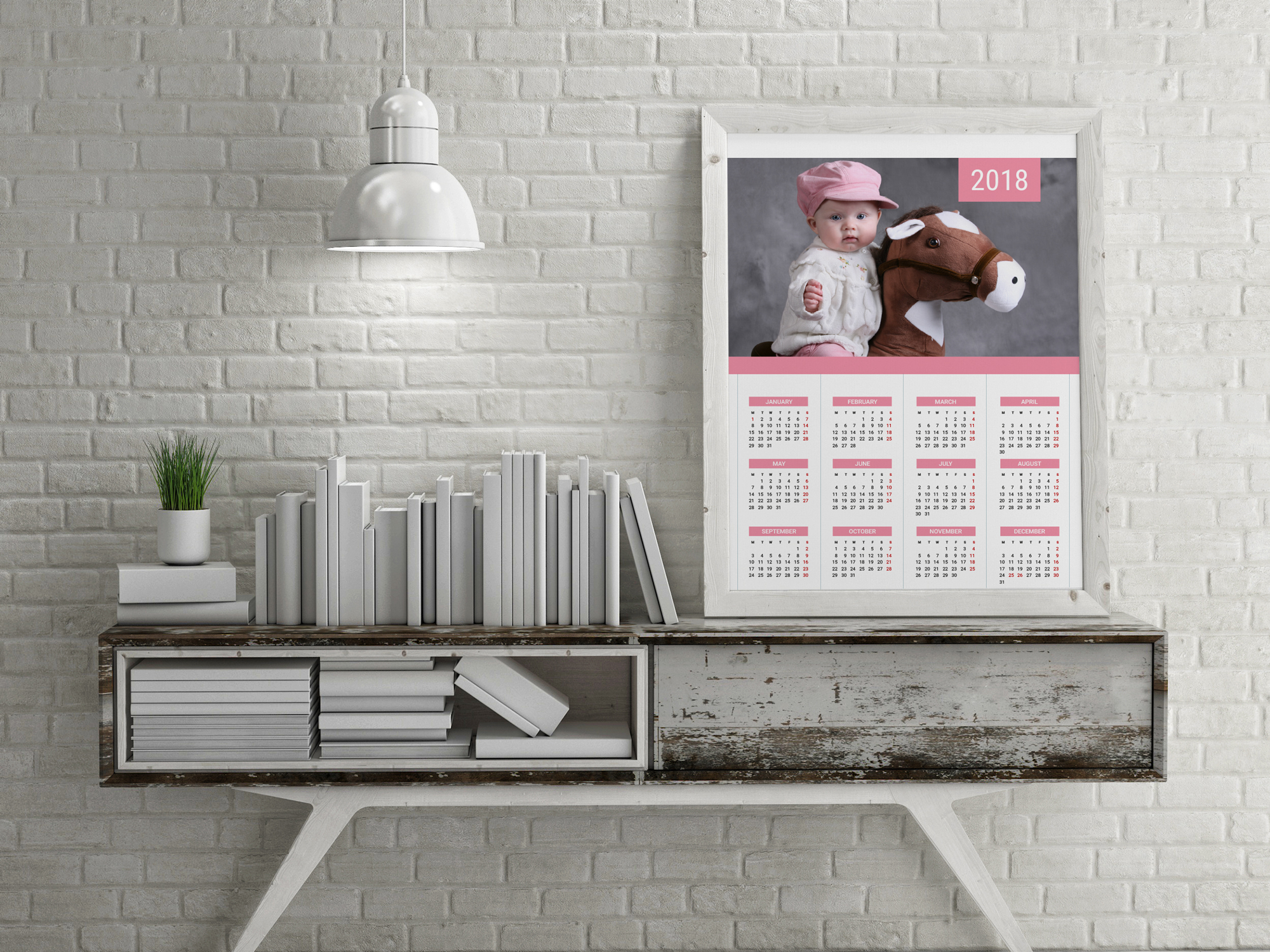 printable calendar 2018 wall poster yearly calendar