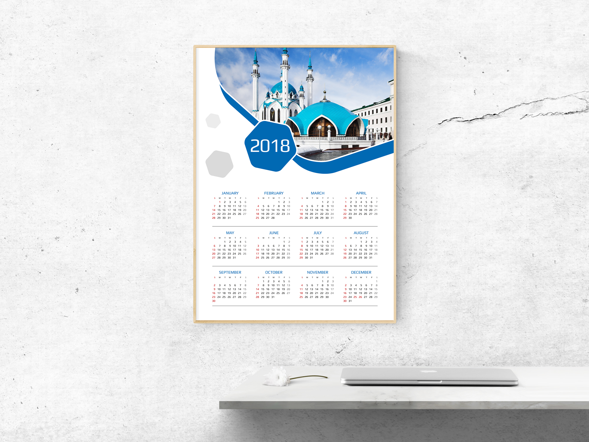 2018 calendar download this best template for poster wall. Black Bedroom Furniture Sets. Home Design Ideas
