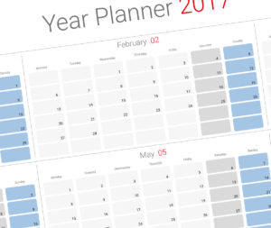Yearly planner template