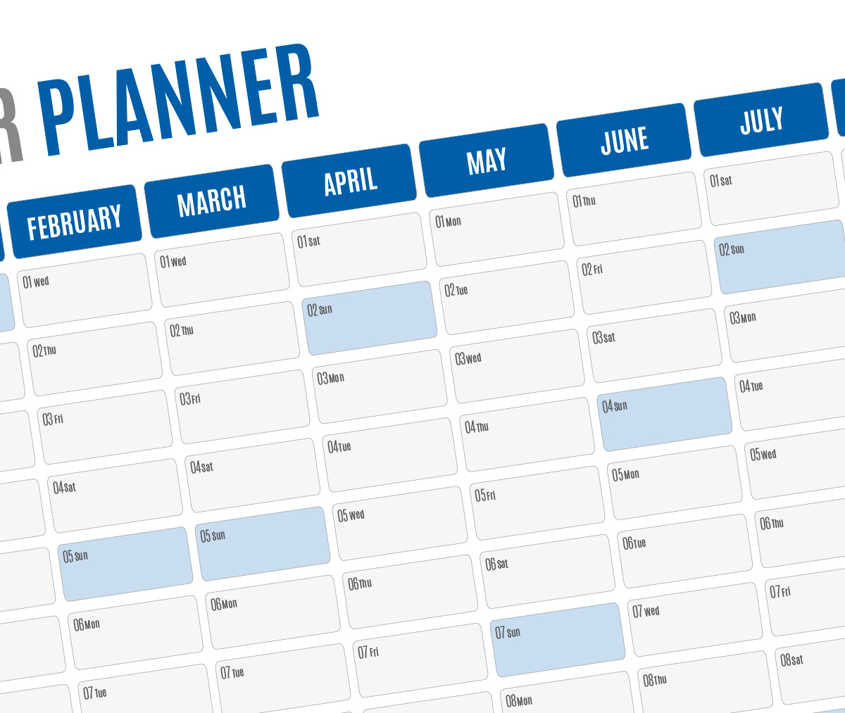 Yearly Big Wall Planner Agenda Kp W19 Template