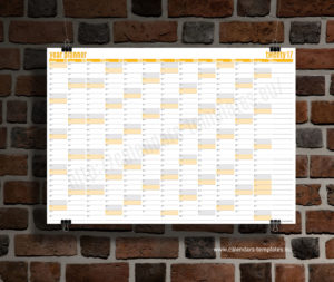 year planner 2018 template - yellow