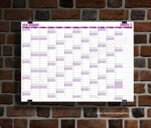 year planner 2018 template