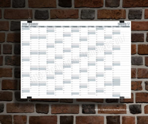 year planner 2018 template - grey