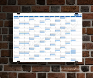 year planner 2018 template - blue