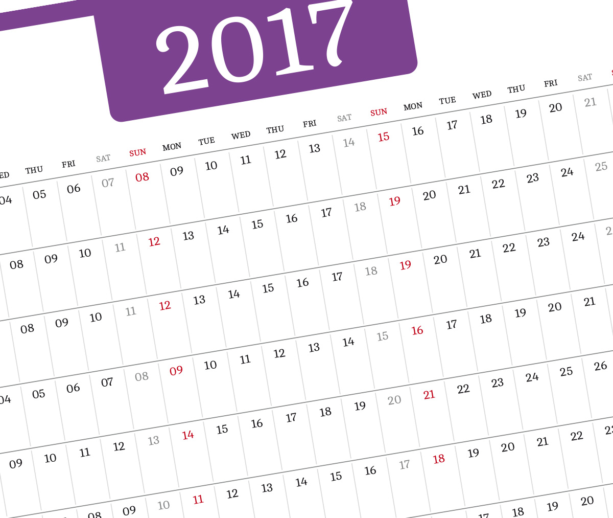 3 year planner template