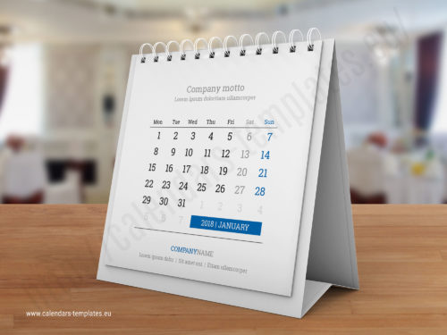 desk tent calendar kb40 w1 template