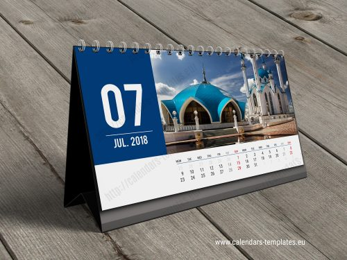 desk calendar kb20 w15 template