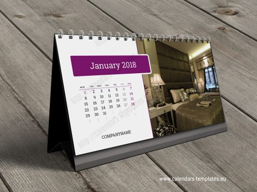 desk calendar kb20 w1 template