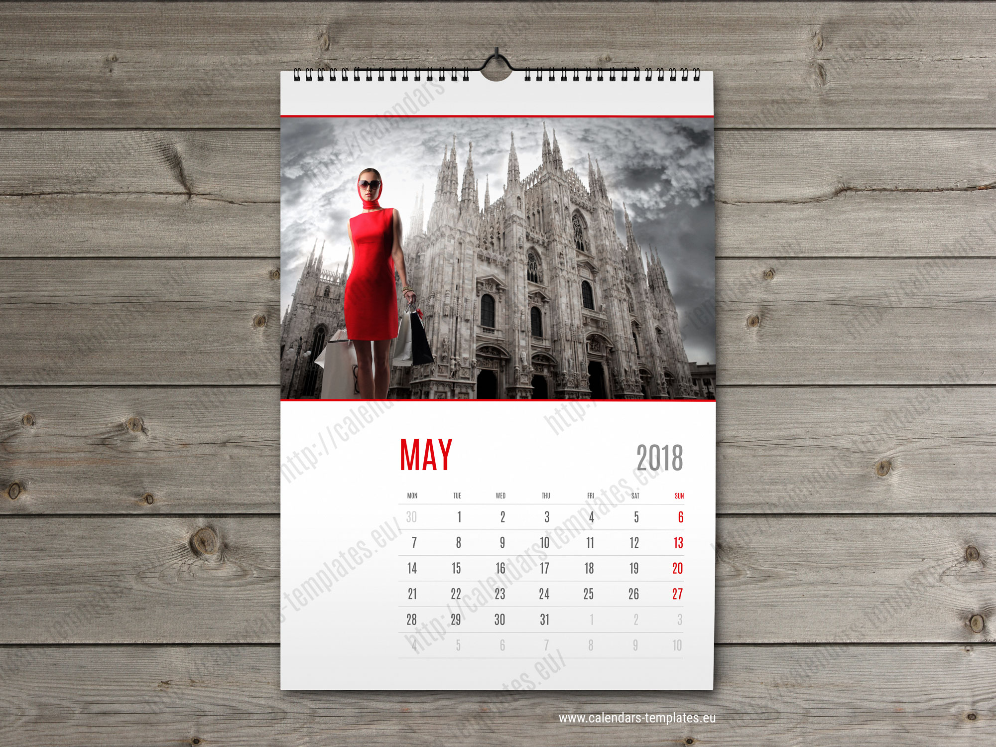 Wall Calendar Design Templates : Wall calendar template monthyly yearly custom