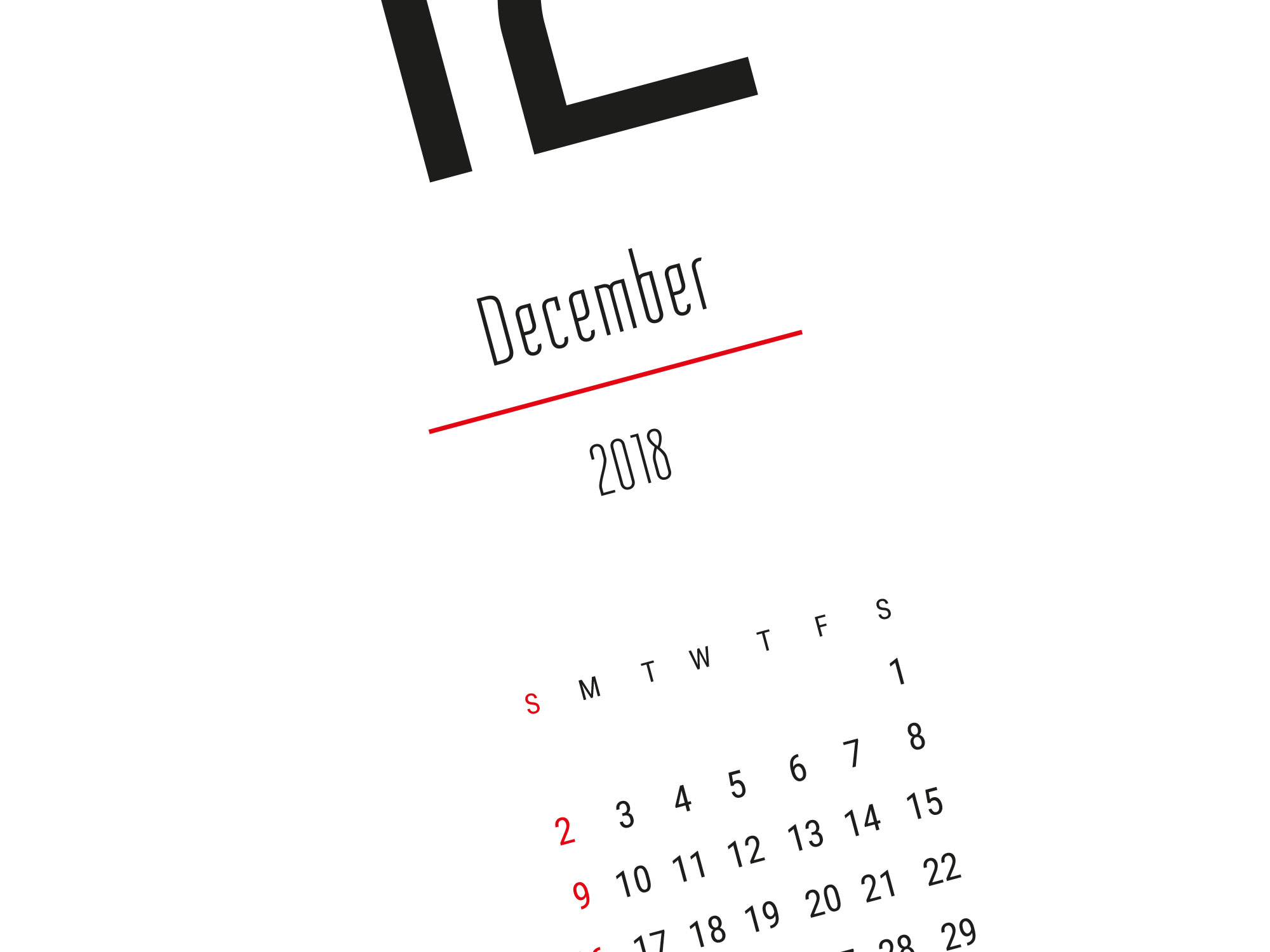 Printable calendar 2018 modern clean design template for for W3 org table layout