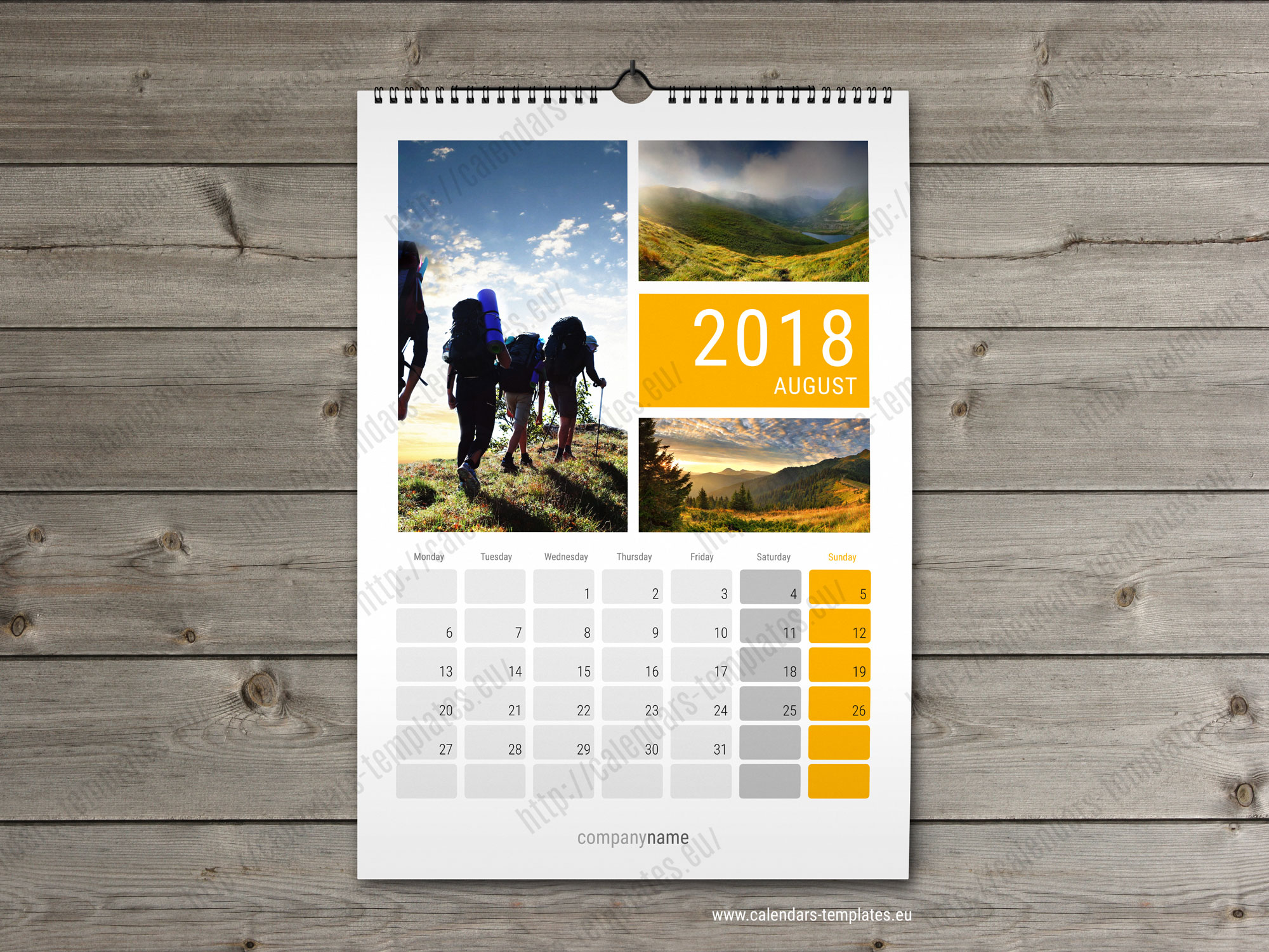 2018 wall calender planner. Monthly printable multipage calendar ...
