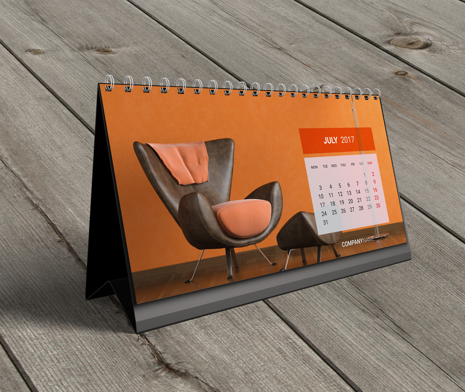Calendar Typography Xp : Desk calendar kb w template