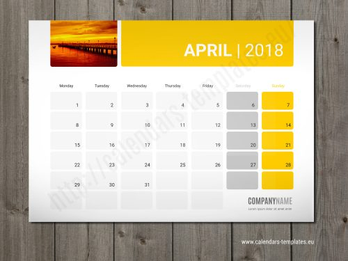 desk monthly planner calendar 2018