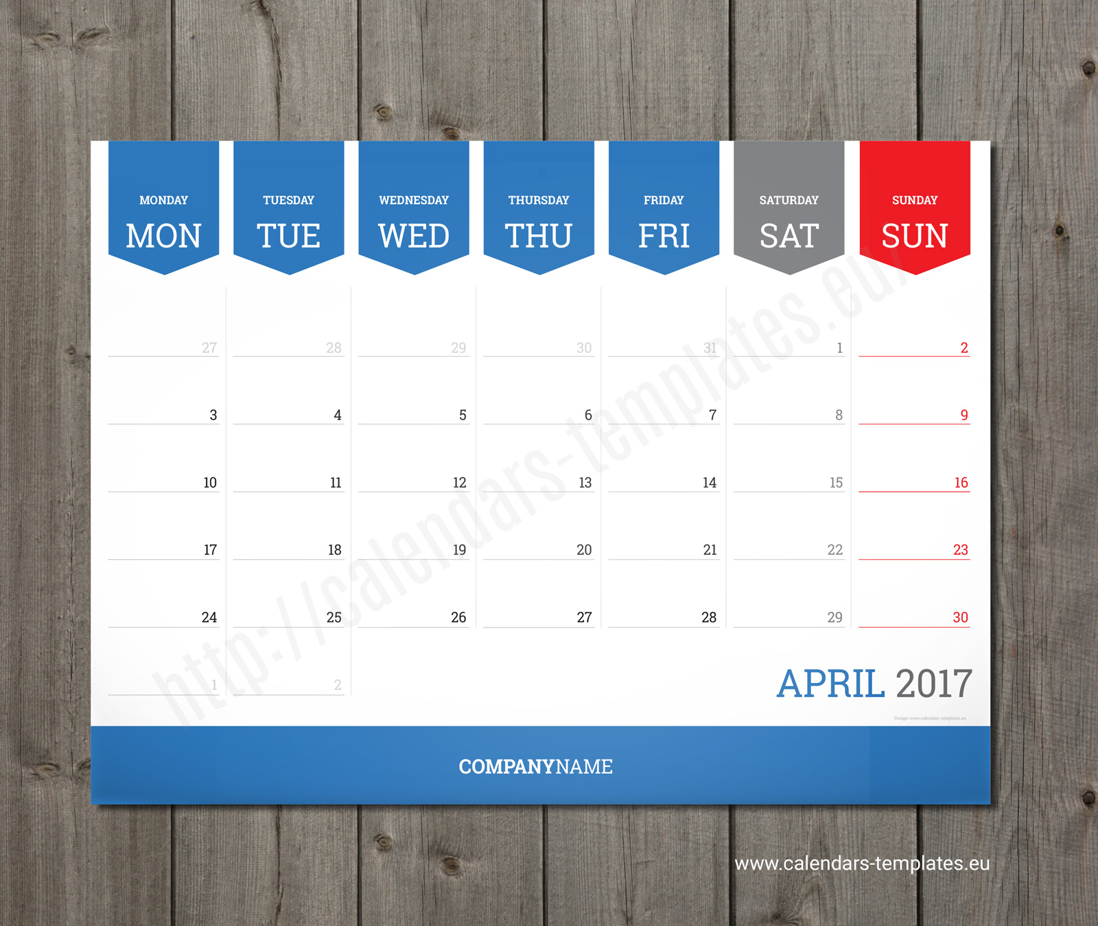 monthly calendar 2018 planner wall or table pad planner template
