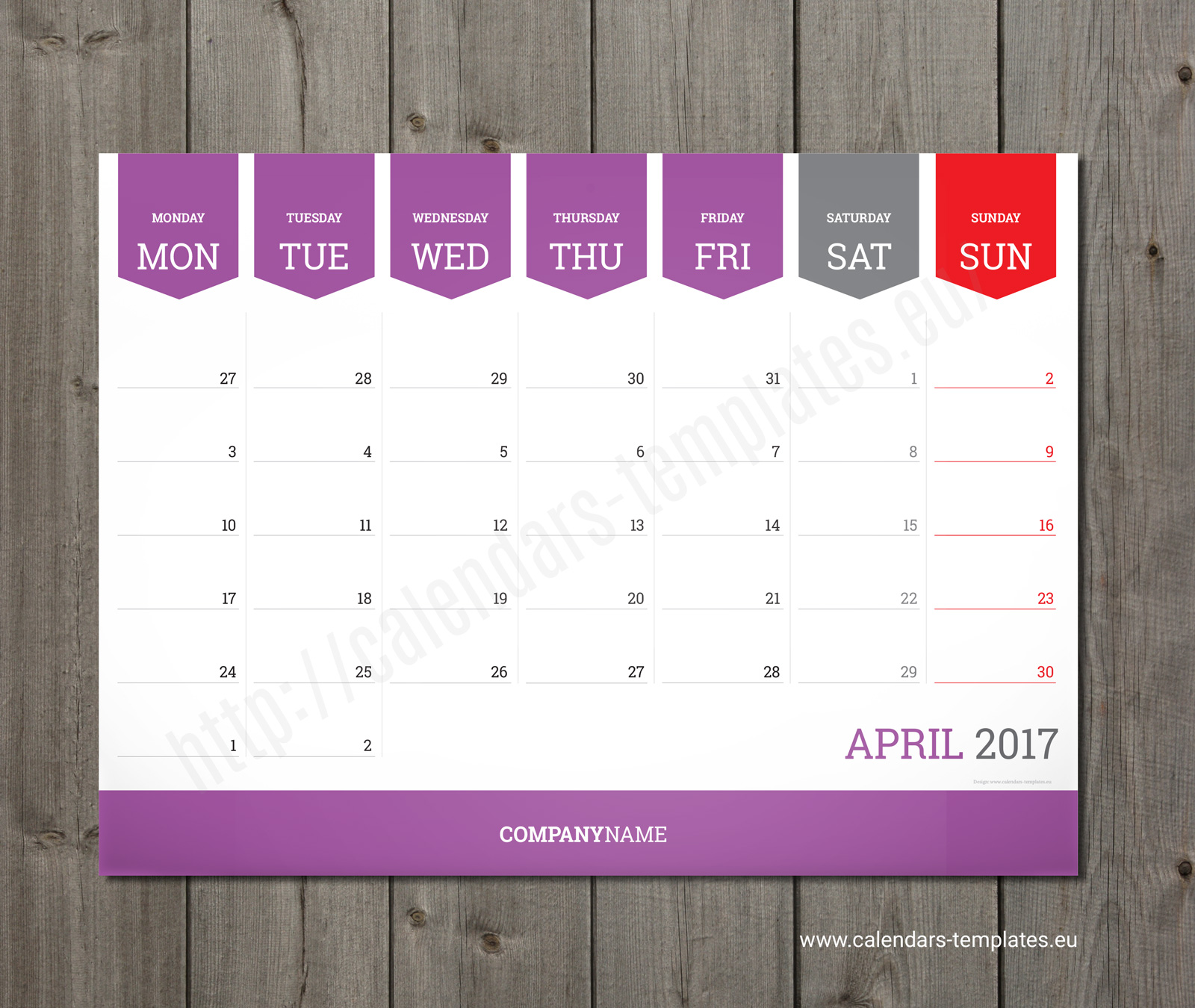 printable monthly desk calendar
