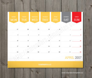 printable monthly desk calendar template 2018