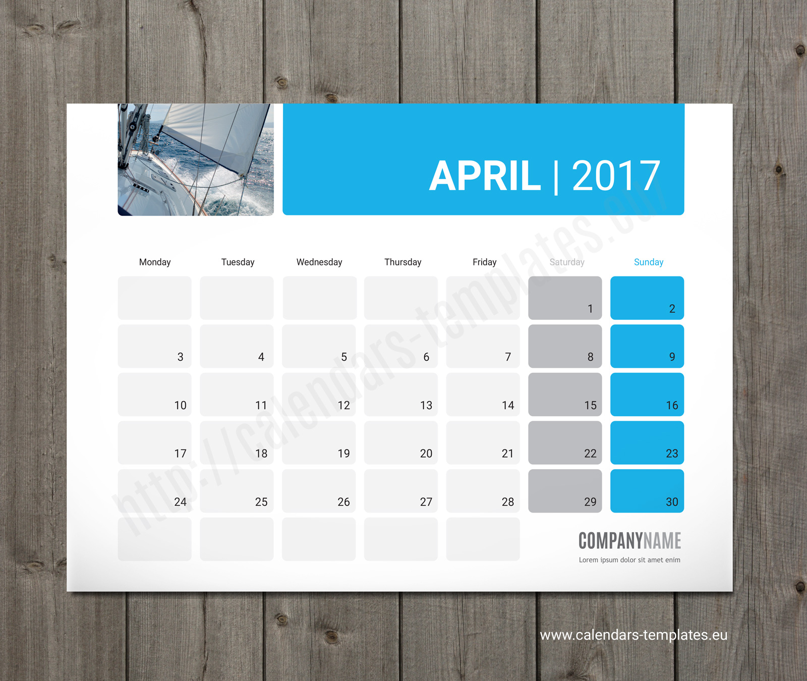 Weekly Calendar Desktop : Photo desk monthly planner