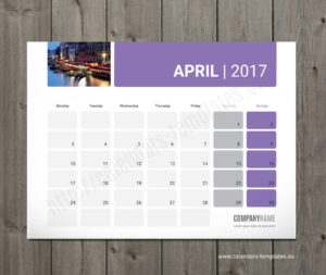 printable desk monthly planner template