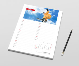 Printable 2018 monthly planner template
