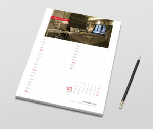 Modern 2018 monthly planner template