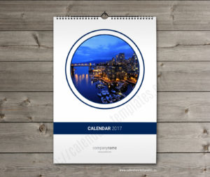 yearly monthly calendar template cover