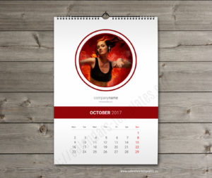 yearly monthly calendar template october