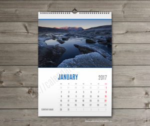 wall calendar template january