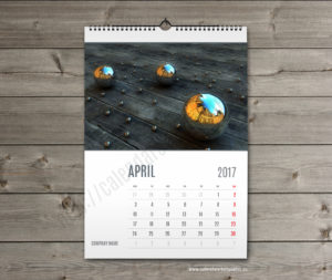 wall calendar template april