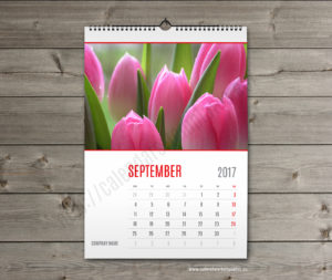 wall calendar template september