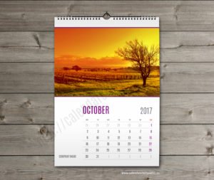 wall calendar template october