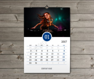 Business calendar. photo custom calendar january