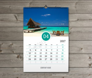 Business calendar. photo custom calendar april