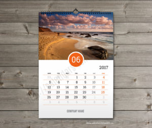 Business calendar. photo custom calendar june