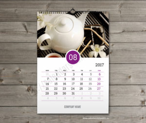 Business calendar. photo custom calendar august