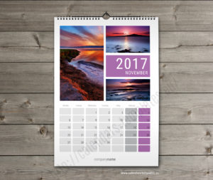 Printable month wall calender planner template november