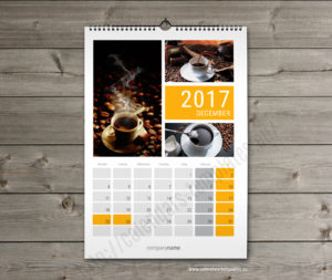Printable month wall calender planner template