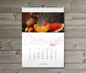 custom blank wall photo calendar template