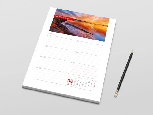 A4 weekly planner template